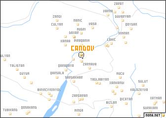 map of Cǝndov