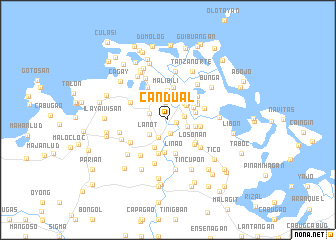 map of Candual