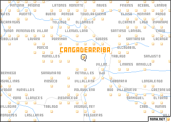 map of Canga de Arriba