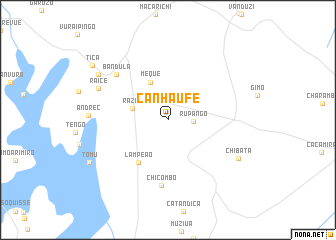 map of Canhaúfe