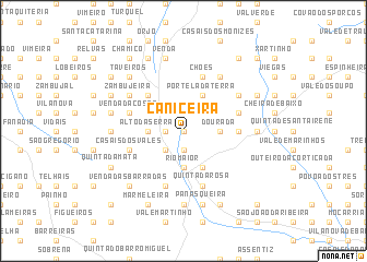 map of Caniceira
