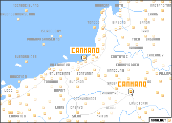 map of Canmano