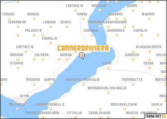 map of Cannero Riviera