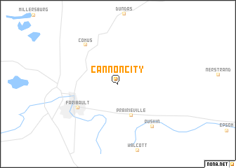 map of Cannon City