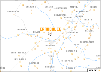 map of Caño Dulce