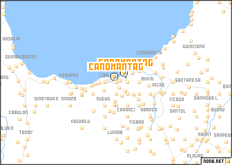 map of Canomantag