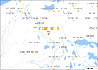 map of Caño Viejo