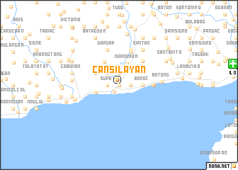 map of Cansilayan
