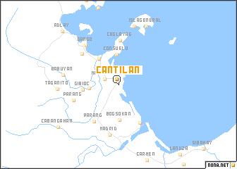 Cantilan Philippines map  nonanet