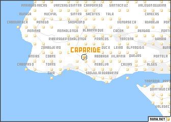 map of Caparide