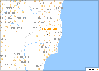 map of Capio-an