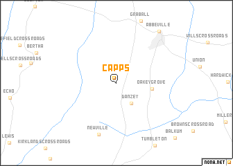 map of Capps