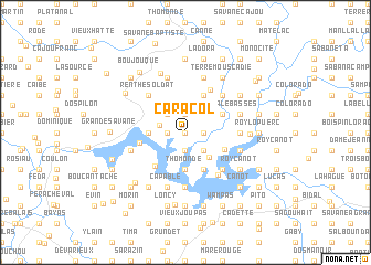 map of Caracol