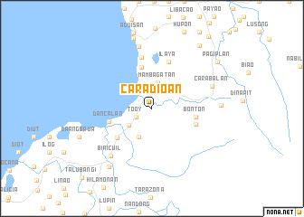 map of Caradioan