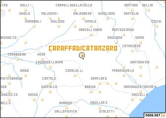 Caraffa di Catanzaro Italy map nonanet