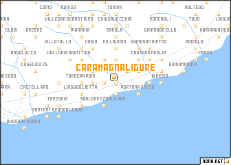 map of Caramagna Ligure