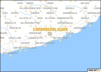 map of Caramagna Ligure