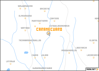 map of Caramécuaro