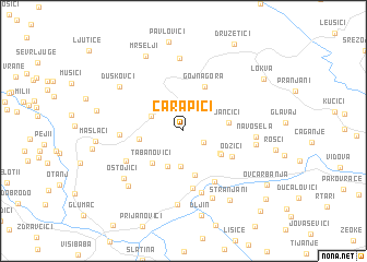 map of Čarapići
