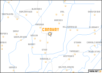map of Caraway