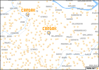 map of Cardak
