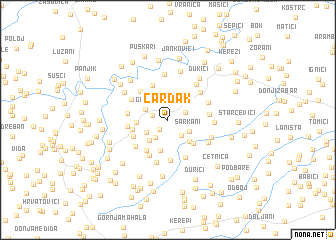 map of Čardak