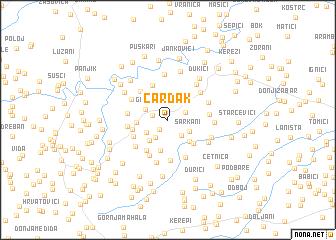 map of Čardak