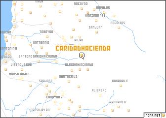 map of Caridad Hacienda