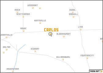 map of Carlos
