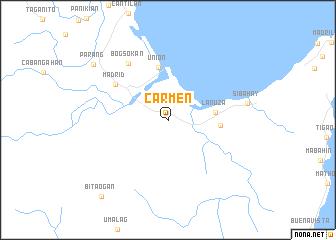 map of Carmen