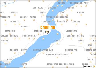 map of Carmine