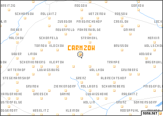 map of Carmzow