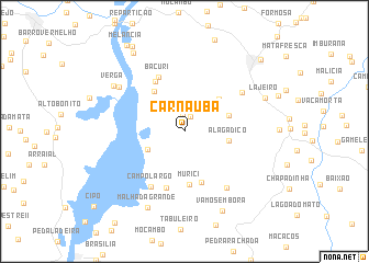 map of Carnaúba