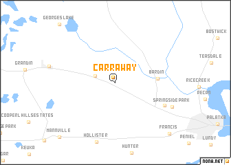 map of Carraway