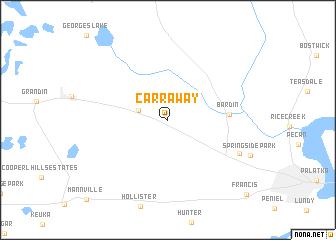 map of Carraway