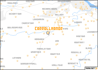 map of Carroll Manor