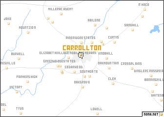map of Carrollton