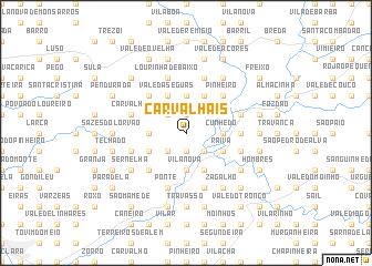 map of Carvalhais