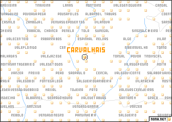 map of Carvalhais