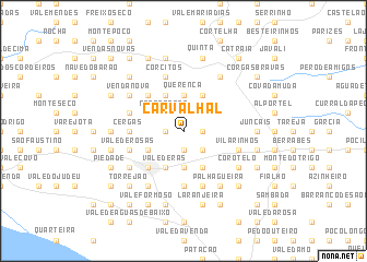 map of Carvalhal