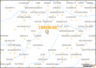 map of Carvalha