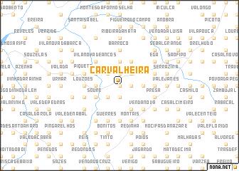 map of Carvalheira