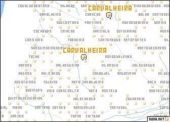 map of Carvalheira