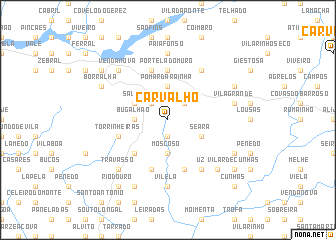 map of Carvalho