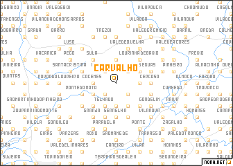 map of Carvalho