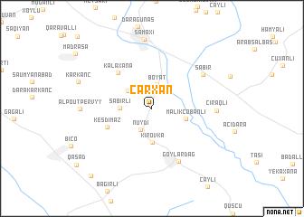 map of Çarxan