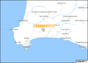 map of Casa Affitti