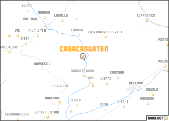 map of Casa Candaten