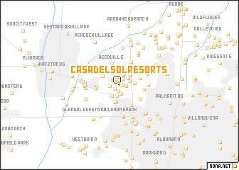 map of Casa del Sol Resorts