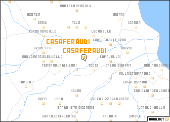map of Casa Feraudi